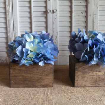 Wooden Box, Storage Box, Cottage Chic Decor, Wedding Decor, Wooden Planter Box, Rustic Wedding Center Piece