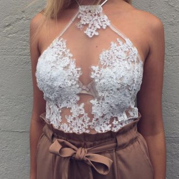 Embroidered sexy top blouse