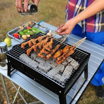 YSR BBQ Portable Barbecue Stove Outdoor Cooking Picnic Camping Wood Charcoal Grill Oven