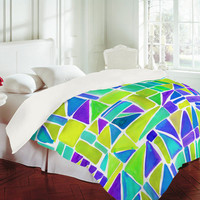 DENY Designs Home Accessories | Amy Sia Watercolour Shapes Lemon Duvet Cover