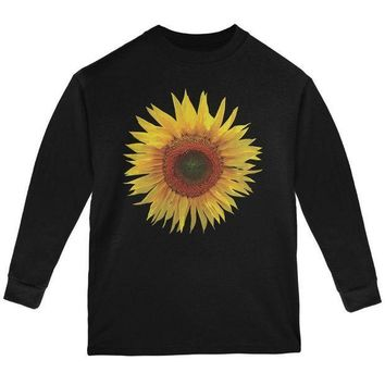ESBGQ9 Giant Sunflower Youth Long Sleeve T Shirt