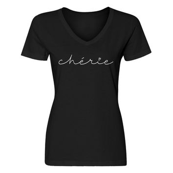 Womens Cherie V-Neck T-shirt