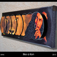 3D Cd's composition - like a lion - bob marley tribute
