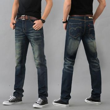 2016 new jeans with size 28-29 30 31 32 33 34 35 36 38 trousers men trousers overalls classic fashion leisure straight jeans