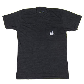 Turntable Lab: Cursivo Pocket Logo Shirt - Black