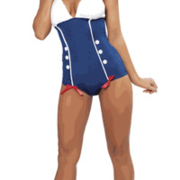 Sexy Pin Up Marilyn Sailor Girl Halloween Costume