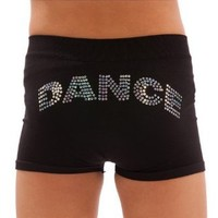 Lizatards Stretch Dance Shorts in Black - Youth Black