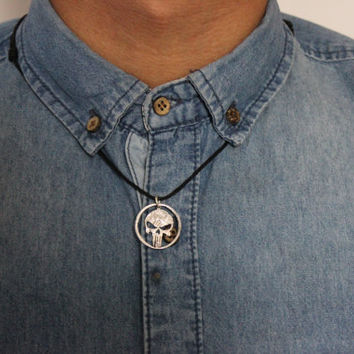 The punisher skull, hand cut coin