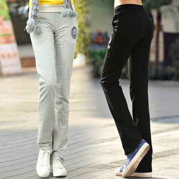 Fashion 2014 New Womens Girl Soft Cotton Sweat Lounge Gym Casual Sports Athletic Pants Trousers loose hip hop sweatpants