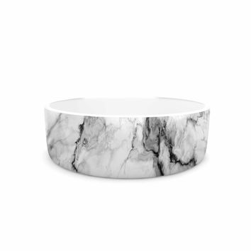 "Chelsea Victoria ""Marble No 2 "" Black Modern Pet Bowl"