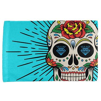 Sugar Skull All Over Hand Towel