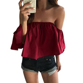Off Shoulder Summer Tops For Women