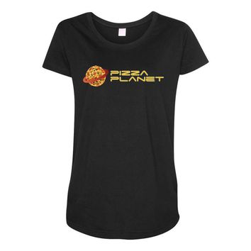 Pizza Planet Maternity Scoop Neck T-shirt