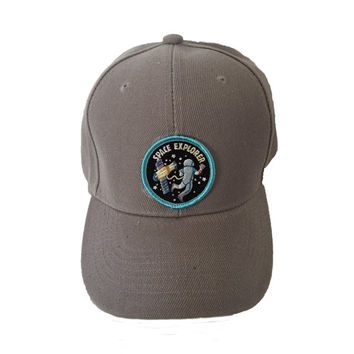 SPACE EXPLORER HAT grey blue patch