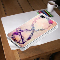 Flower Rose Anchor Refuse To Sink Case cover iPhone 4/4s, iPhone 5/5s/5c, Samsung S3,S4,S2, iPod 4, iPod 5 Case