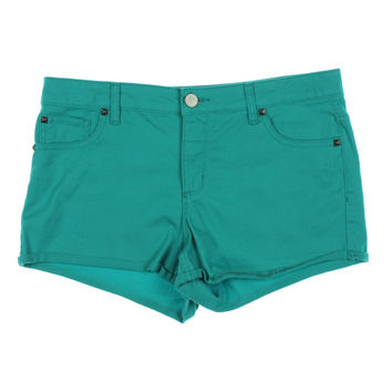 Tinseltown Womens Juniors Flat Front Cuffed Casual Shorts