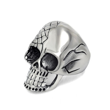 New Arrival Jewelry Gift Shiny Stylish Accessory Strong Character Punk Vintage Men Titanium Ring [6526795203]