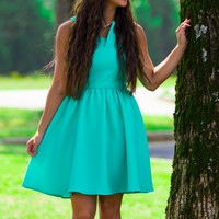 EVERLY-My Flare Love Dress-Jade
