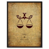 Libra Horoscope Astrology Canvas Print, Picture Frame Home Decor Wall Art Gift