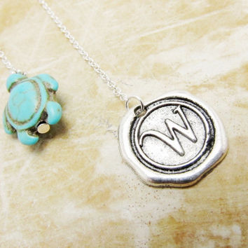 Monogram Turtle Bookmark, Initial Personalized Bookmark, Custom Stamped Bookmark, Alphabet Wax Seal,  Personalized Gift