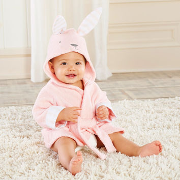 Baby s Bathtime Bunny Hooded Spa Robe Personalization Available
