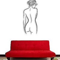 Wall Sticker Naked Girl Woman Female Modern Decor For Bedroom Unique Gift z1454
