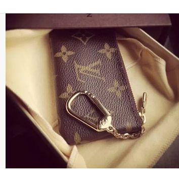 LV Louis Vuitton Trending Stylish Classic Canvas Key Pouch Coin Purse I