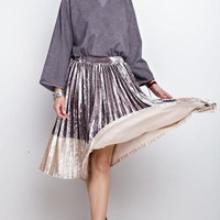 See You Again Velvet Midi Skirt
