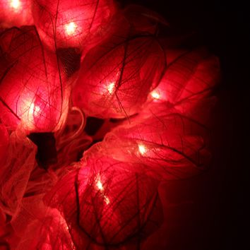 Red Rose Flower Floral Handmade 3D String Lights for Weddings, Parties, Home Decoration