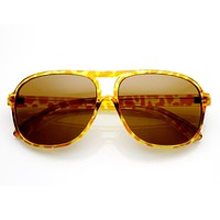 Retro 1980's Original Hipster Square Aviator Sunglasses 8741