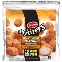 Tyson Any'tizers Honey BBQ Flavored Boneless Chicken WYNGZ, 44 oz - Walmart.com