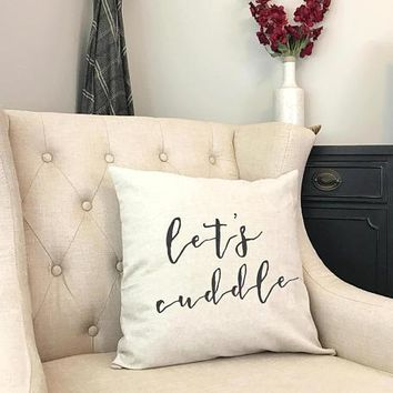 Lets Cuddle Pillow - Sleep In Pillow - New Farmhouse Room