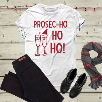 Wine glass celebration Merry Christmas T-Shirt Christmas Gift Party Style Top Casual Funny Graphic Chirstmas Vintage Tees Shirt