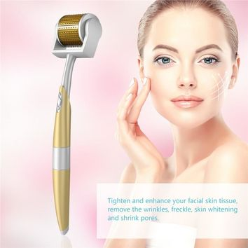 TINKSKY TS5 Derma Roller Needle Skin Care 192 Micro Needles Home Use Facial Skin & Face Care Beauty Massage Tools - 0.5mm Needle Length Medical Therapy Skin Care Tool