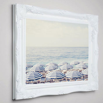 French Riviera Framed Canvas - French, Beach print, Beach photography - Free shipping