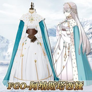 Anime! Fate Grand Order Anastasia Gorgeous Dress Uniform Cosplay Costume For Women Custom-made Size 2018 New Hot Free Shipping