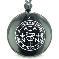 Sigil of the Archangel Zadkiel Magical Amulet Amulet Black Onyx Magic Gemstone C