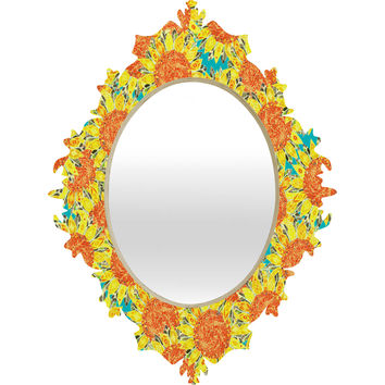 Sharon Turner Sunflower Field Baroque Mirror