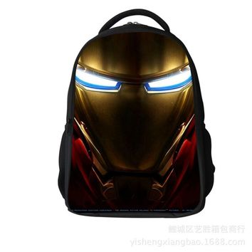 2016 Heroes Iron Man Pattern Student Backpack Children Pupil School Bag Boys/Girl Backpacks Book Bags for Kids