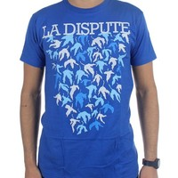 Licensed LA DISPUTE Band Leaves Falling Logo Progressive Rock T-Shirt L NEW