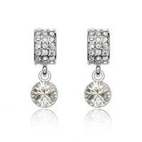 Crystal pendant earrings made with Swarovski Elements