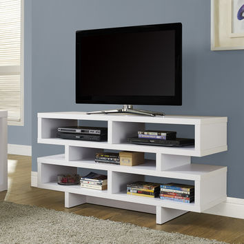"White Hollow-Core 48""L Tv Console"