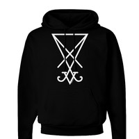 Sigil of Lucifer - Seal of Satan Dark Hoodie Sweatshirt