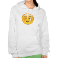 White Smiling Face Emoji Hooded Pullovers