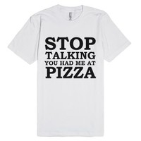 Pizza Lover-Unisex White T-Shirt
