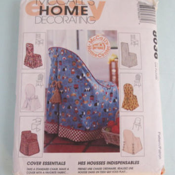 Vintage McCall's home decorating sewing patterns 8036 1995 cover essentaials chair cover pattern
