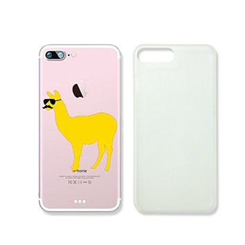 Cute Llama Wearing Glasses Slim Iphone 7 Case, Clear Iphone Hard Cover Case For Apple Iphone 7 Emerishop (NLA241.7sl)