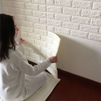 3D Brick Pattern Wallpaper Bedroom Living Room Modern Wall Background TV Decor [9305916167]