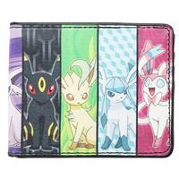Pokemon Eevee Evolution Panels Bi-Fold Wallet