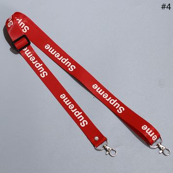 Supreme Tide brand men and women personality mobile phone shell webbing lanyard #4